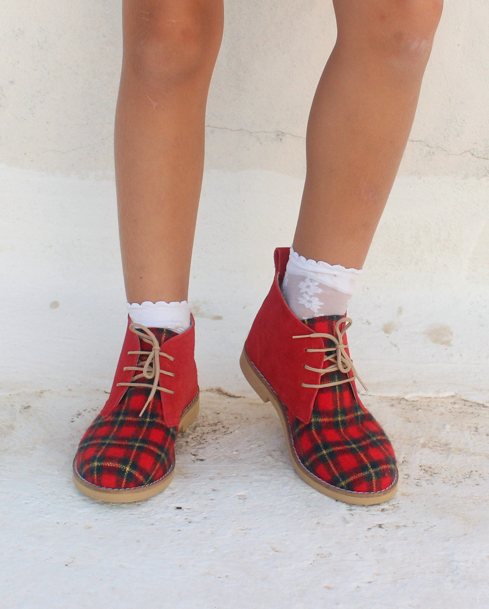 Christmas Boots For Girls.Christmas Shoes For Girls And Woman Handmade Leather Ankle