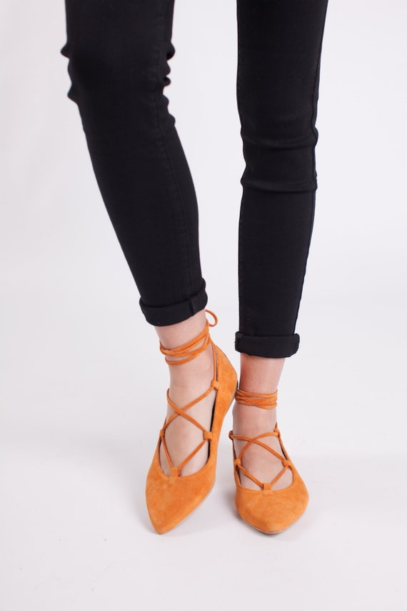 Handmade Leather Shoes Ballet Flats