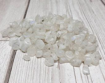 Spectrolite moonstone mixed shape bead bundles.