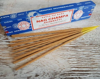 Classic nag champa small incense pack.
