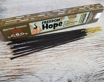 Ancient wisdom freedom hope incense.