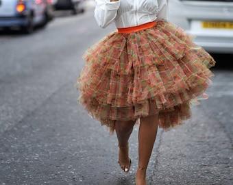 African Clothing for Women, African Print skirt, Ankara skirt, Bridal skirt, Tulle skirt,  Tutu skirt,  Mesh Skirt , Kente Print