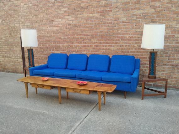 Milo Baughman For Thayer Coggin Sofa 4 Person Couch Etsy