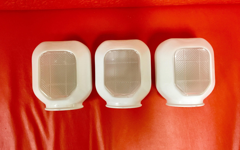 Retro Glass Light Fixture Globes Art Deco Bathroom Sconce