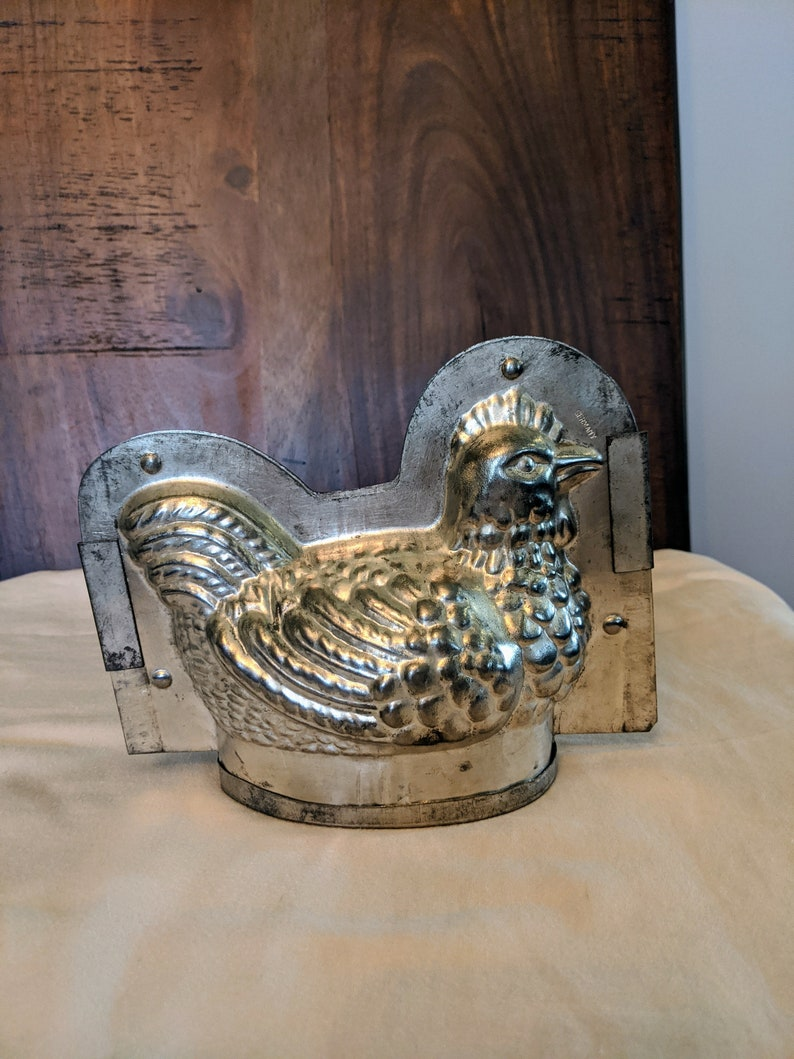Metal Chicken Candy Mold ~ Vintage Chocolate Mold ~ SoapCandlePlaster Mold ~ Made in Germany