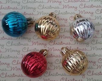 Miniature Plastic Christmas Ornaments (5)