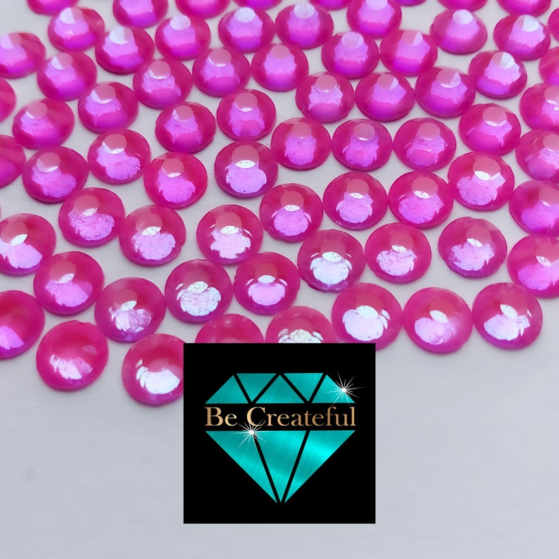 Flatback Luminous Purple Glass Rhinestones