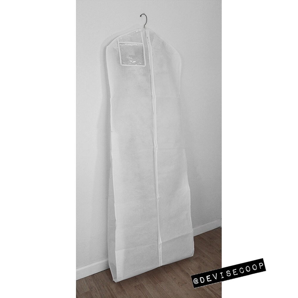 4b341d27dffb Garment Bag Wedding Gown Breathable White Front & Back - 24
