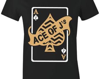 eea2c98619cc3a Ace of J s - Juniors Women T-Shirt to Match Jordan 11 PRM Heiress Black  Stingray