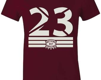 The 23 - Juniors Women T-Shirt to Match Jordan 13