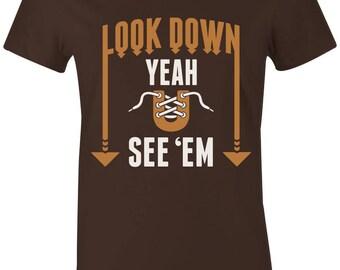 b71d88c550a4d6 Look Down - Juniors Women T-Shirt to Match Jordan 6