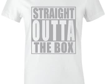 15f577117d7ce7 Straight Outta The Box - Juniors Women T-Shirt to Match Jordan 4