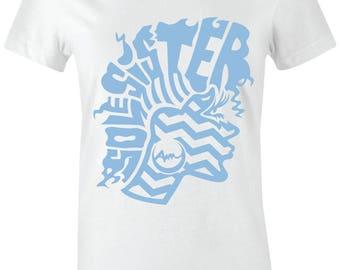 b64efa557e54 Sole Sister 3 - Juniors Women T-Shirt to Match Jordan 7