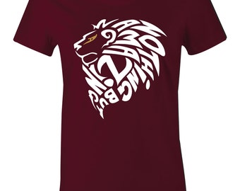 d08c1fc7017 Amazing Lion - Juniors Women T-Shirt to Match Lebron 10 Soldier
