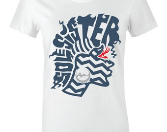 """/""""Heart and Sole/"""" Women//Juniors T-Shirt to Match Retro /""""Cool Blue/"""" 1/'s"""