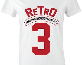 86c67c24e784 Retro 3 -Juniors Women T-Shirt to Match Jordan 3