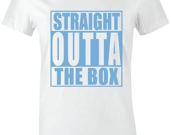 6184f3f28e35ef Straight Outta The Box-Juniors Women T-Shirt to Match Jordan 11 Low