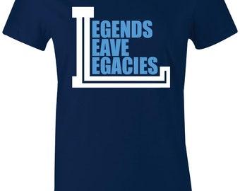 e74d4731b249 Legends Leave Legacies - Juniors Women T-Shirt to Match Jordan 9