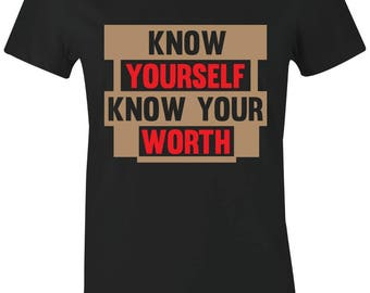 dbed08370df Know Yourself - Juniors/Women T-Shirt to Match Jordan 13