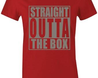 6a7f52bbe3a8 Straight Outta The Box - Juniors Women T-Shirt to Match Jordan 5