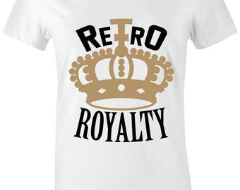 9b630fca2f2f74 Retro Royalty - Juniors Women T-Shirt to Match Jordan 1 High OG