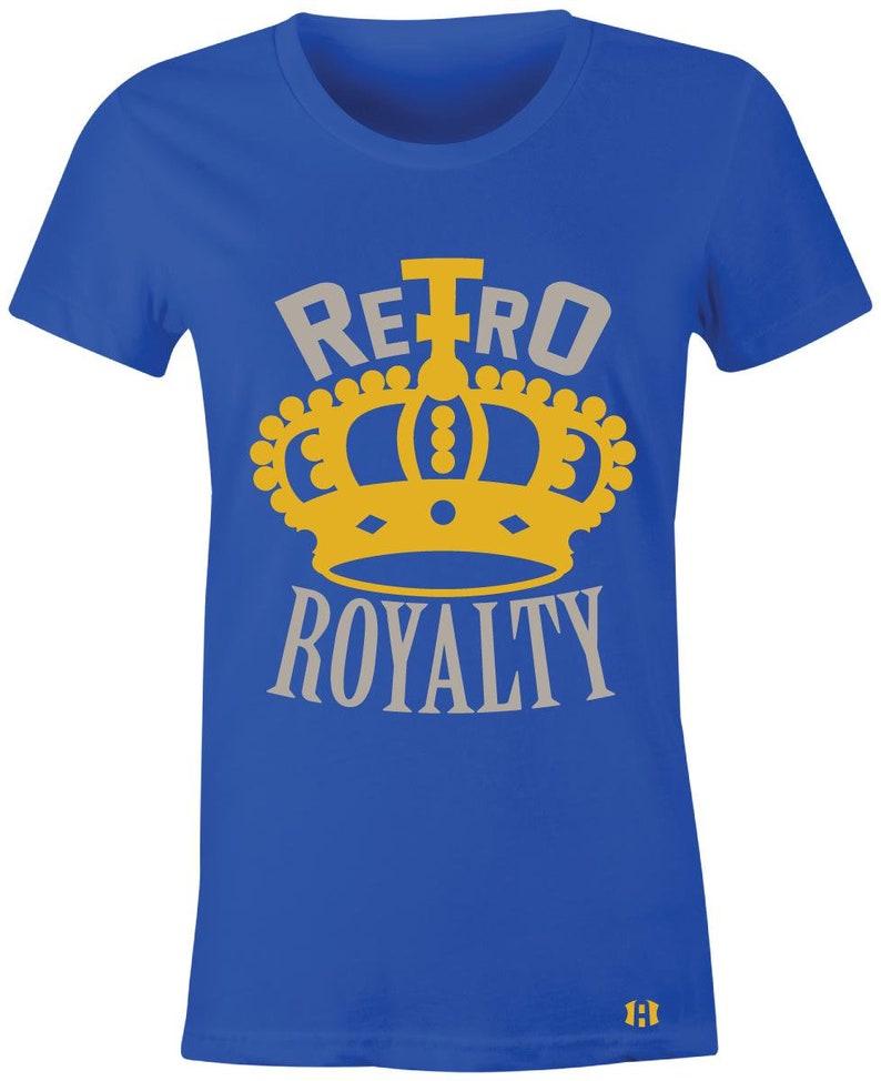 71ebb54f33236c Retro Royalty Juniors Women T-Shirt to match the Jordan 5
