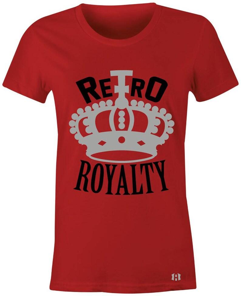 a985832b378f99 Retro Royalty Juniors Women T-Shirt to Match Jordan 5 Red