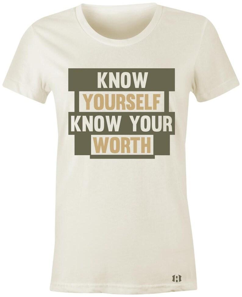 c92d541e5c5c7f Know Yourself Juniors Women T-Shirt to Match Jordan 12