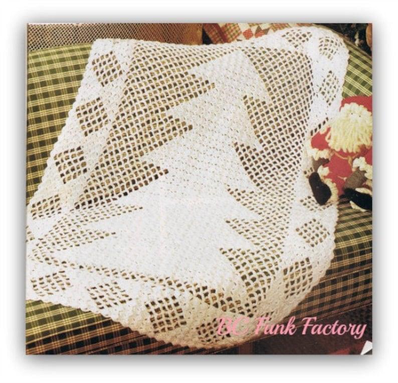 Christmas Tree Crochet Afghan Pattern Vintage Holiday Home Decor Crochet  PDF Crochet Pattern