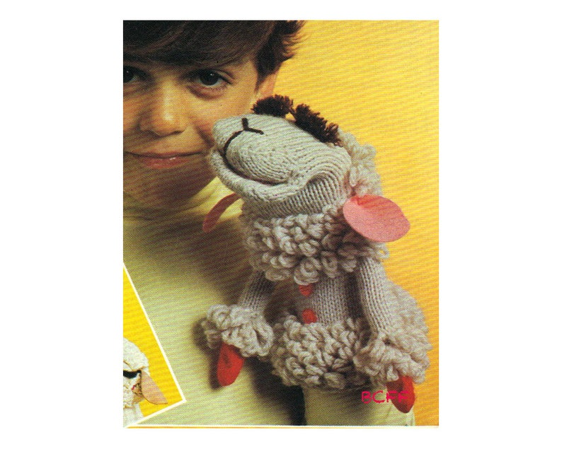 Lamb Chop Hand Puppet Toy Knitting and Crochet Pattern ...