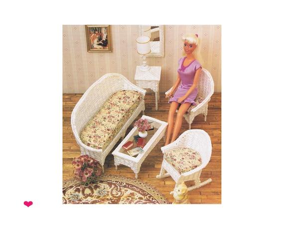 Wicker Dresser for Barbie or Fashion Doll Dollhouse Digital Download Plastic Canvas PATTERN Annie/'s Fashion Accessories