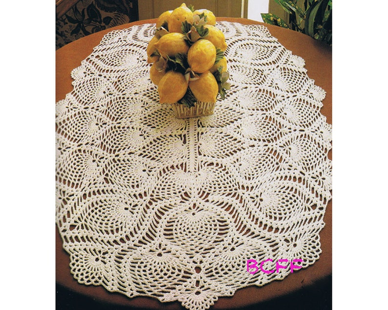 Doily Crochet Pattern - Vintage Crochet Pattern Pineapple Oval Doily - PDF  Crochet Pattern Instant Download