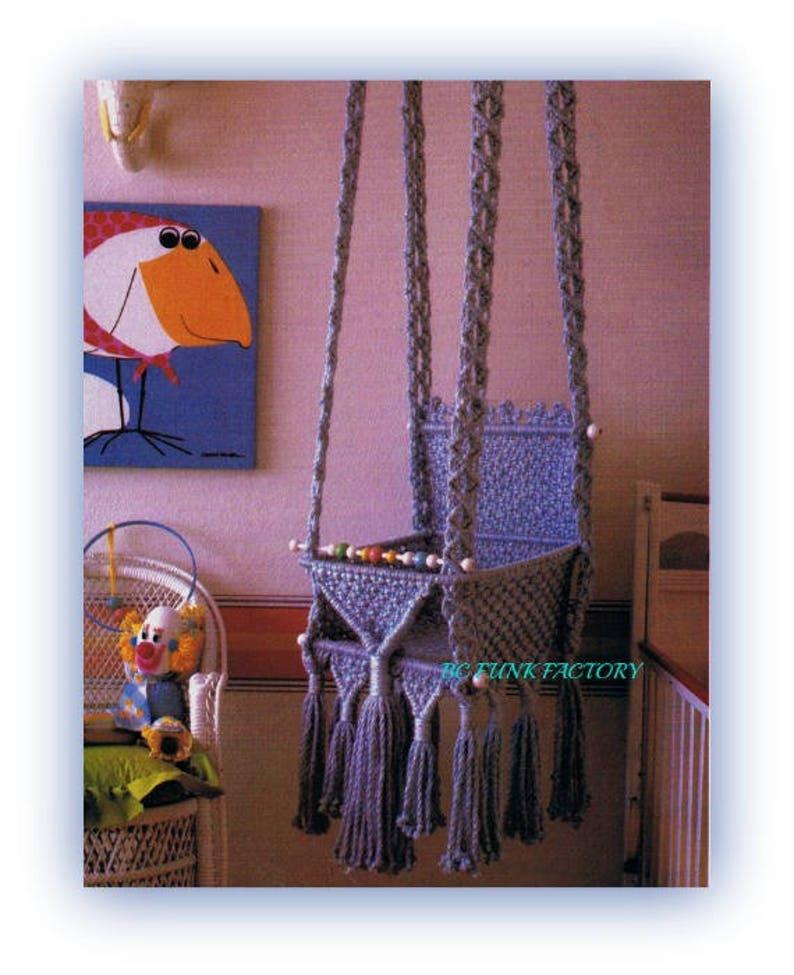 Macrame Baby Swing Pattern Hanging Baby Seat Macrame Home ...