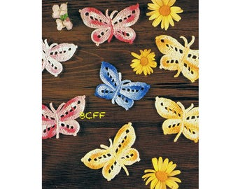 Butterfly Crochet Pattern Butterfly PDF Crochet Pattern - Thread Crochet pattern Instant Download