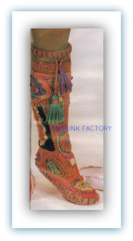 8d852c2a61b Crochet Slipper Boot Pattern Women s Vintage Free Form PDF