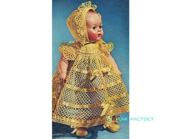 Crochet Dolls Dress Pattern: Amazon.com | 456x570