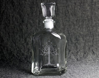 The White Tree of Gondor Decanter with Glass Stopper | Lord of The Rings