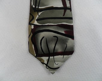 84d10f47e26e Vintage Jerry Garcia Tie Collection Fourteen Silk Carousel Grateful Dead  Burgundy and Gray Men's Neck wear 56 x 3.75 The Crazy Tie Guy T474