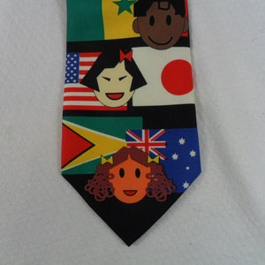 Vintage Flags of the World Tie  Saint Jude Children/'s Research Hospital Novelty  Neck tie 58 x 3.75 Crazy Tie Guy T868