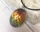 Rainbow Dragon Egg Neckla...