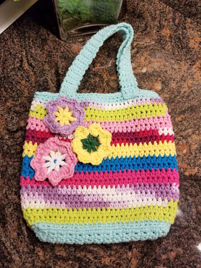 crochet little girl shoulder handbag crochet purse small image 0