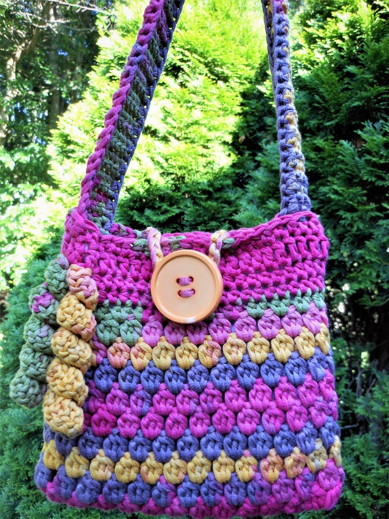 shoulder handbag for little girls crochet purse for girls image 0