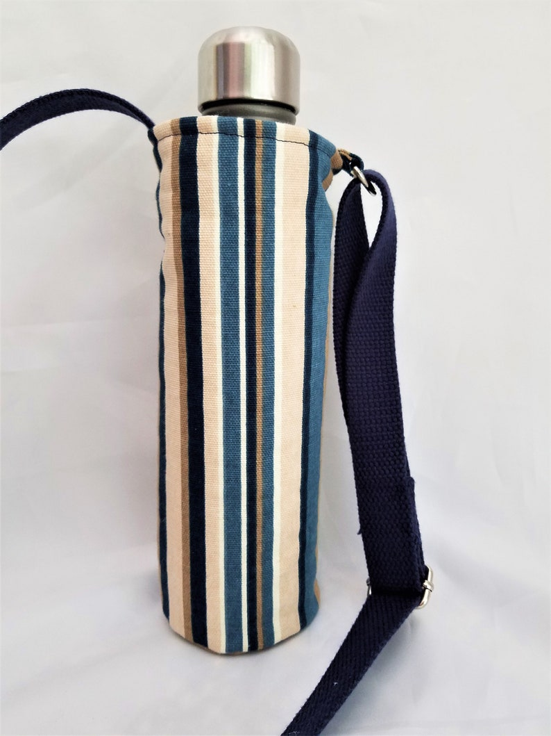 water bottle carrier with adjustable strap cross body image 0