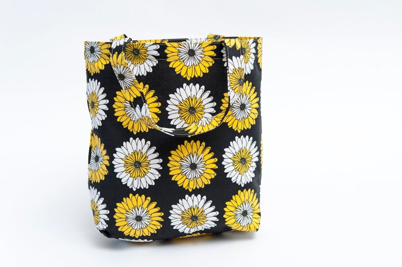 reusable flower gift bag handmade cotton fabric tote party image 0