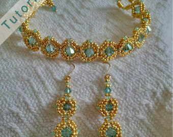 Nestled Gems Bracelet and Earring Tutorial: PDF and Video