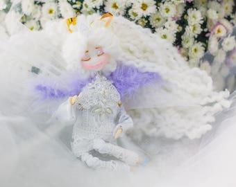Bridal shower gift wedding gift for bride Playroom decor Wedding doll Whimsical Doll OOAK fairy doll Fantasy doll  angel doll