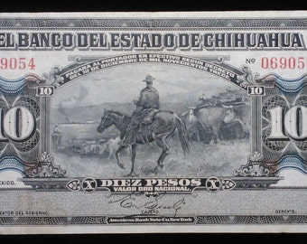 BankNote Mexico El Banco DelDe Estado Chihuahua Centavo Money Bill Cash Peso LOT