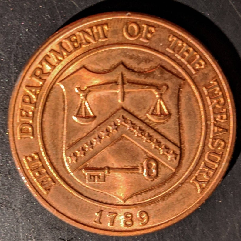 Solid Grade Denver Colorado Mint 1789 United States Treasury Department Coin Medal Token Coin Antique Vintage Authentic 1.00 Ship