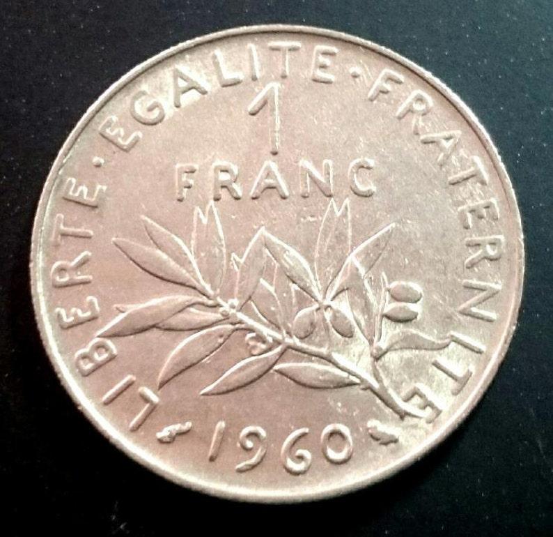 Vintage 1960 Grade Solide France 1 Franc Un Monde De Piece De Etsy