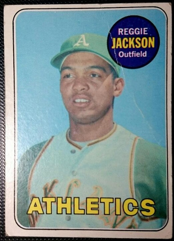 1969 Reggie Jackson Rookie Topps 260 Oakland Athletics Antique Vintage Super Eye Appeal Original Authentic Baseball Card 100 Ship